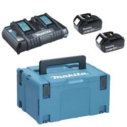 Pachet acumulatori si incarcator Makita in cutie Makpac BL1860B si DC18RD