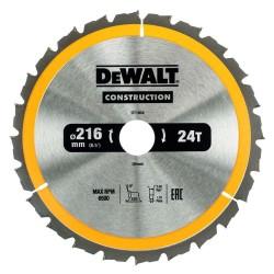 Panza de ferastrau circular Dewalt CONSTRUCTION 216x30,Z 24