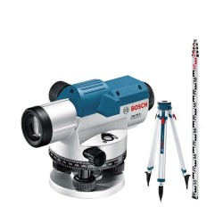 Set nivela optica cu stativ si mira Bosch GOL 26G