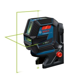 Nivela laser cu 2 linii si puncte Bosch cu lumina verde GLL 2-50 G + clema de tavan