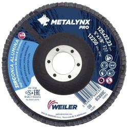 Disc lamelar 125 mm, F27, granulatie 80 polizare metal si...