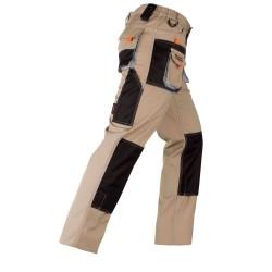 Pantaloni standard bej/negru Kapriol SMART