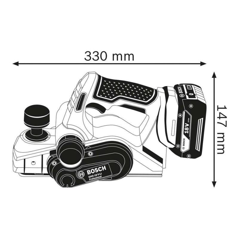 Rindea Bosch compatibila cu acumulator 18V Li-Ion  GHO 18V-LI