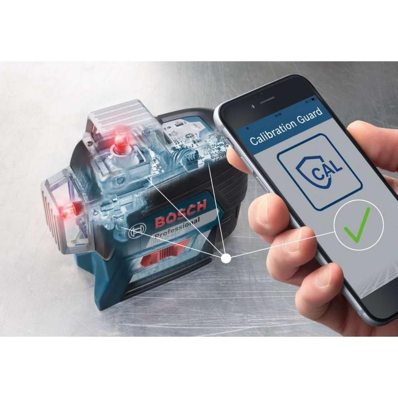 Nivela laser cu linii Bosch compatibila cu acumulator 12 V Li-Ion GLL 3-80 C
