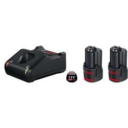 Set 2 acumulatori si incarcator Bosch 12V Li-ion 2.0 Ah GBA 12V GAL 12V-40