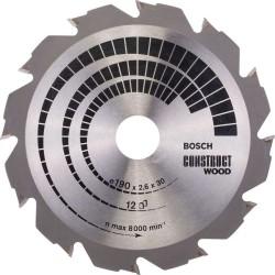 Panza de ferastrau circular Bosch Construct Wood 190x30, 12 dinti