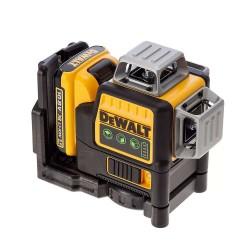 Nivela laser cu 3 linii Dewalt, lumina verde DCE089D1G